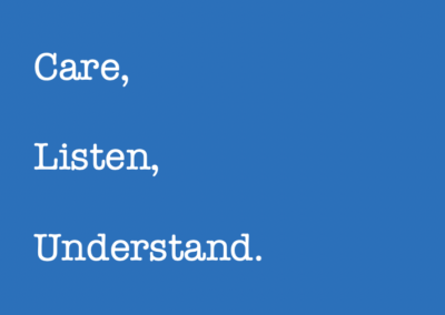 Care, Listen and Understand